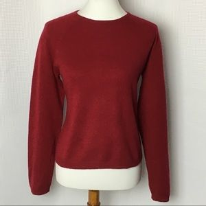Lord & Taylor Two Ply Cashmere Sweater  Red Large